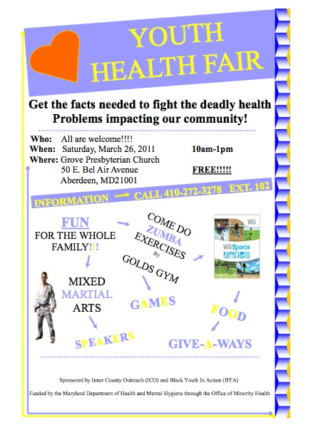 Black Youth in Action Youth Health Fair March 26 | Bel Air News ...