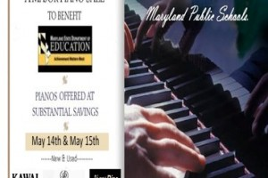 The annual sale of pianos used in Harford County School this year is Sunday, May 15 at the Forest Hill Air Park