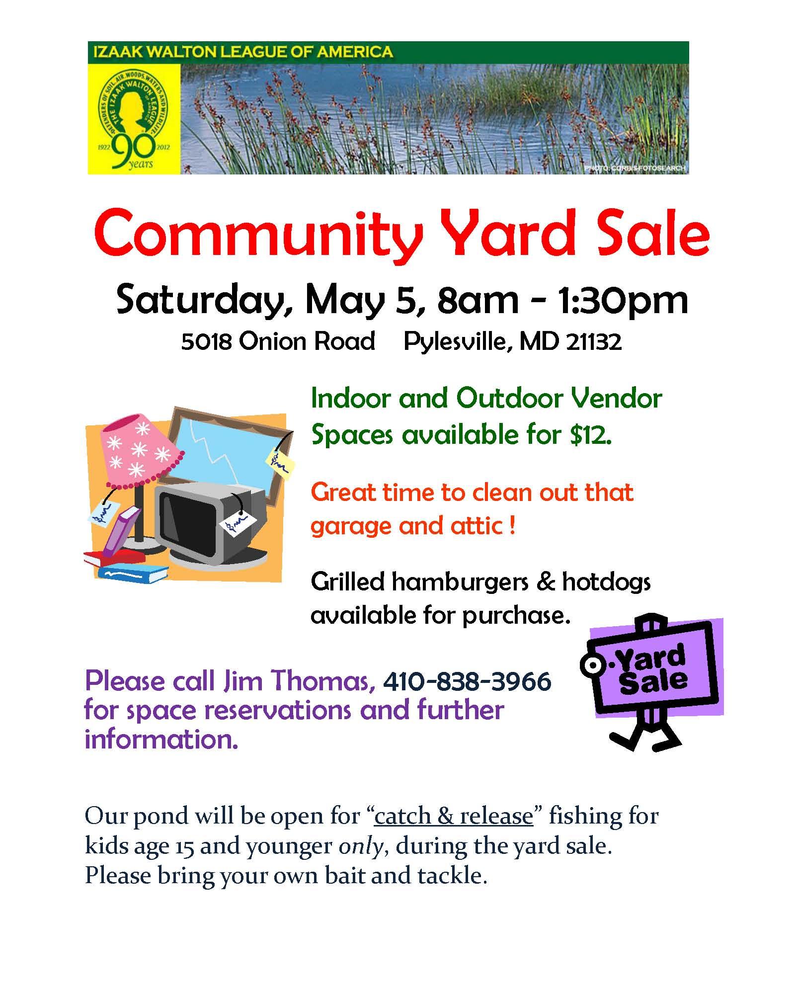 Global Views Garage Sale: Izaak Walton Chapter Community Yard Sale To Feature