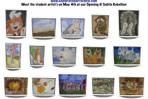 Exploration Art School students' work on display at Subtle Rebellion Salon + Gallery Friday to benefit Harford County Autism Society