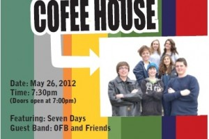 Holy Grounds Christian Coffee House features contemporary Christian music and coffee at Lutheran Church of the Good Shepherd, May 26