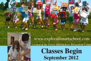 Register today for Exploration Art School's after school and weekend drawing and painting classes at Forest Hill/Hickory Recreation Center