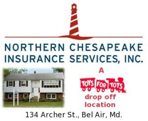 Drop off Toys for Tots at Northern Chesapeake Insurances Services through Dec. 15