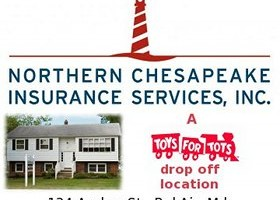 Drop off Toys for Tots at Northern Chesapeake Insurances Services through Dec. 12