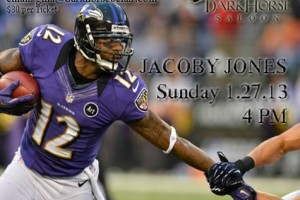 Baltimore Raven Jacoby Jones to sign autographs at Dark Horse Saloon in Bel Air starting at 4 p.m. Jan. 27
