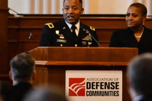 "Aberdeen Proving Ground senior commander Maj. Gen. Robert S. Ferrell receives ""Military Leader of the Year"" award"