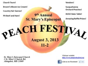 Peach Festival 2013 Flyer