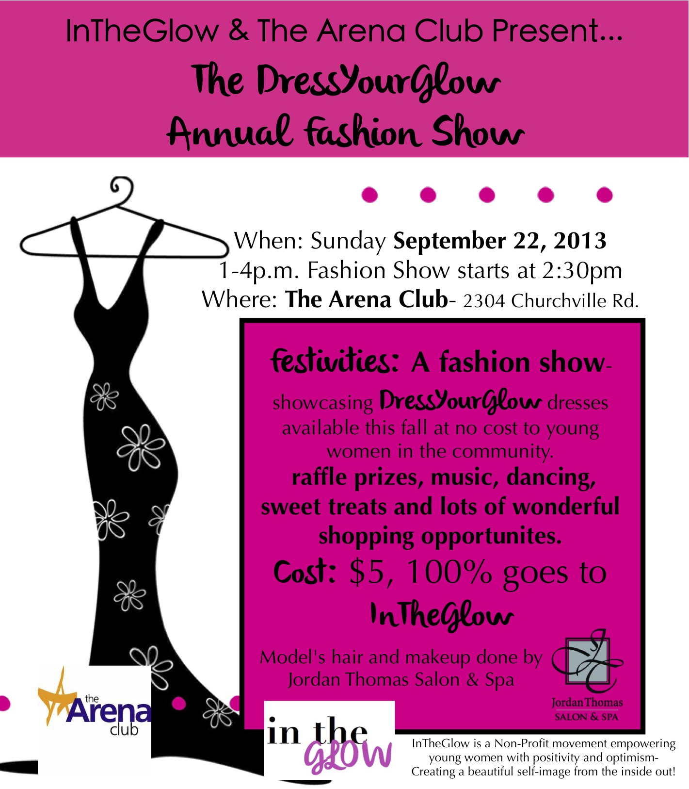 dressyourglow fashion show at the arena club sunday to