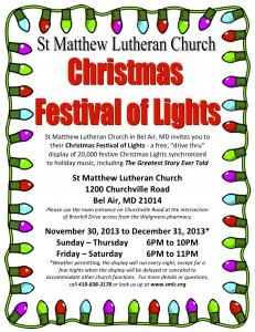 2013 SMLC Christmas Festival of Lights