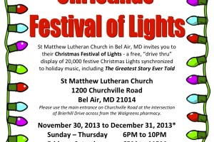 St. Matthew Lutheran Church Christmas Festival of Lights opens Nov. 30
