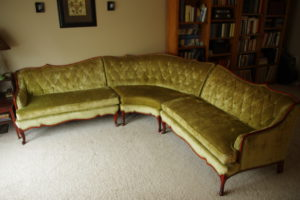 Classified Ads: Vintage French Provincial sectional