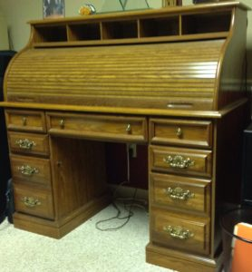 photo of roll top desk