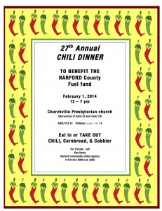 27th annual Chili Dinner Flyer