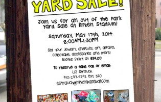 Out of the Park Yard Sale at Ripken Stadium is May 17; vendor booths are still available