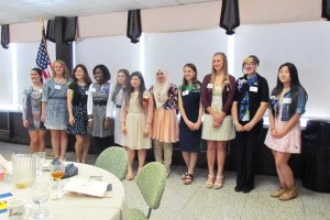 Twelve local students honored for their science and math achievements at AAUW Resnik Awards luncheon