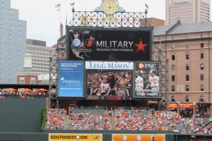 Abingdon family gets surprise message from dad stationed overseas at Sunday's Orioles game