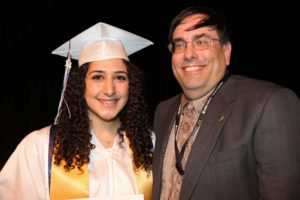 Bel Air High School senior Sandy Abboud receives President's Volunteer Service Award from Bel Air Lions Club