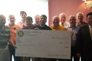 Bel Air Rotary presents $3,000 check to SARC