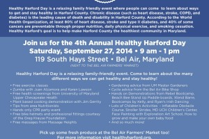 Healthy Harford event comes to downtown Bel Air Sept. 27