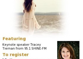 Registration is now open for the Oct. 18 Women's Conference at Mt. Zion Church at the Tent featuring keynote speaker Tracey Tiernan of 95.1 SHINE-FM