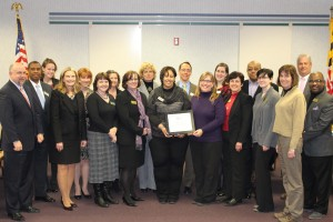 Peers recognize Harford County Public Library staff members with award named for former library director