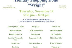 """5th annual Holiday Shopping Done """"Wright"""" event is Nov. 19 at C. Milton Wright"""