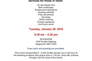 SARC seeks volunteers for Project Homeless Connect at the Epicenter in Edgewood Jan. 28