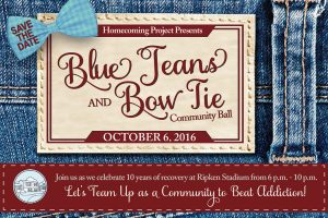 Blue Jeans and Bow Tie ball to benefit The Homecoming Project coming up Oct. 6 at Ripken Stadium