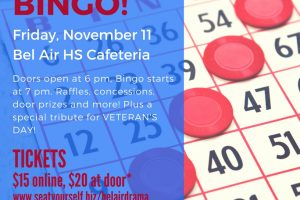 Bel Air Drama Company's 2nd Annual Mystery BINGO fundraiser, Nov. 11
