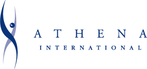 ATHENA INTERNATIONAL logo (PMS 2757) [Converted]