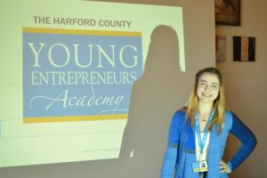 Harford Day School 8th grader Chloe Meyer's business venture wins investor funding through Harford County Young Entrepreneurs Academy competition