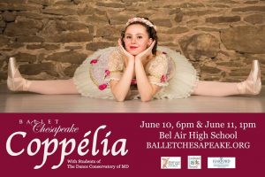 "Ballet Chesapeake presents ""Coppélia"" at Bel Air High School June 10"